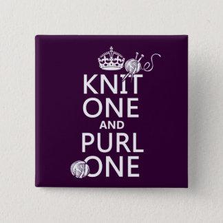 Pin's Knit un et maille une