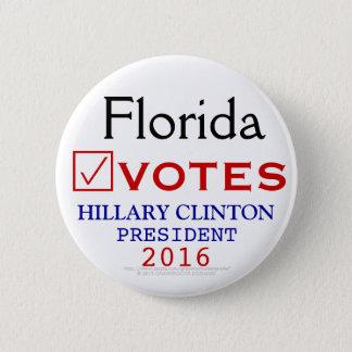 Pin's La Floride vote le président 2016 de Hillary