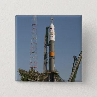 Pin's La fusée de Soyuz peu de temps après l'arrivée
