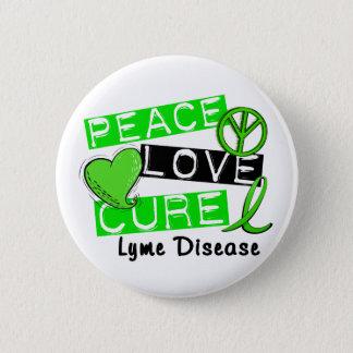 Pin's La maladie de Lyme de traitement d'amour de paix 1