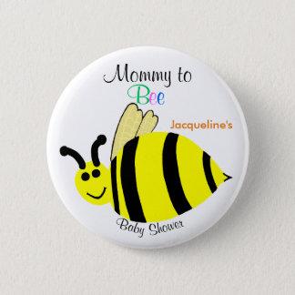 Pin's La maman au jaune mignon d'abeille gaffent le baby