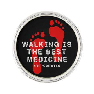 Pin's La marche est la meilleure médecine Hippocrate de