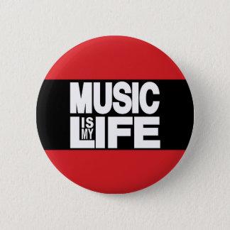 Pin's La musique est mon rouge de la vie
