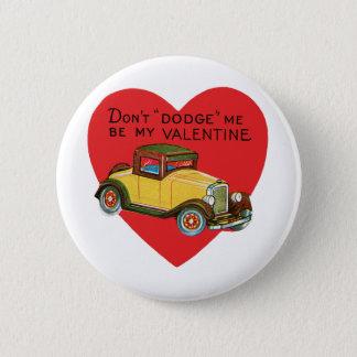 Pin's La voiture vintage de Saint-Valentin, ne