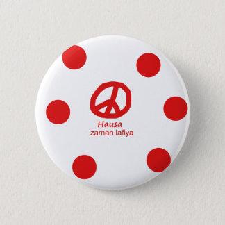 Pin's Langue de Hausa et conception de symbole de paix