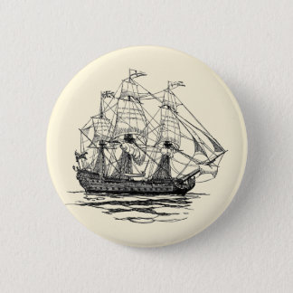 Pin's Le cru pirate le galion, croquis d'un bateau