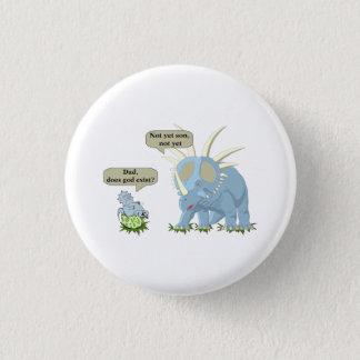 Pin's Le dinosaure indique que Dieu n'existe pas