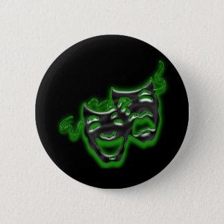Pin's Le grand vert au néon masque le mini bouton