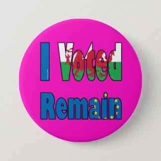 """Pin's Le Pays de Galles """"je Voted reste"""" référendum d'UE"""