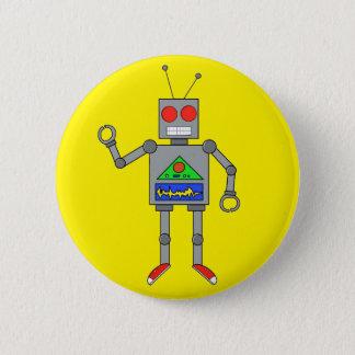 Pin's Le rouge chausse le Pin jaune de bouton de robot