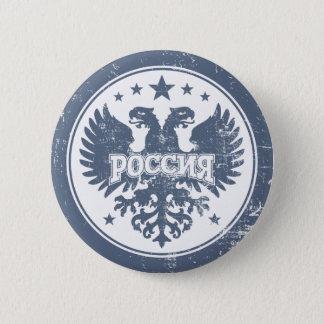 Pin's Le Russe deux a dirigé le symbole d'Eagle