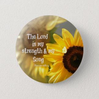 Pin's Le seigneur est mon vers de bible de force et de