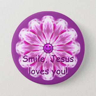 Pin's Le sourire, Jésus vous aime !