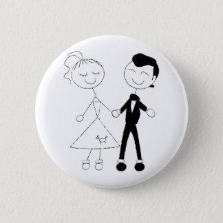 Pin's les années 1950 habillées vers le haut des couples