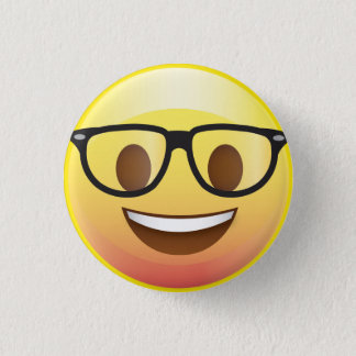 Pin's Les verres nerd heureux Emoji font face au Pin