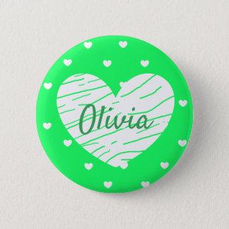 Pin's L'étiquette nommée personnalisée boutonne des
