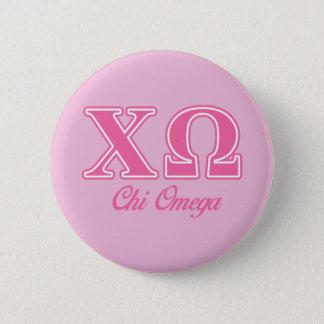 Pin's Lettres roses d'Omega de Chi
