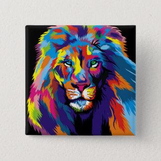 Pin's Lion coloré