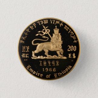 Pin's Lion of Judah - Haile eux - Rastafari bouton