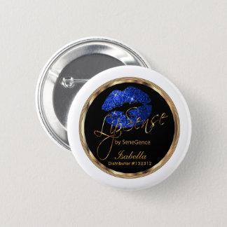 Pin's Lipsense - parties scintillantes bleues sur noir