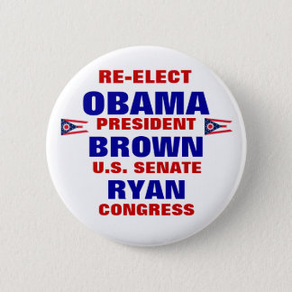 Pin's L'Ohio pour Obama Brown Ryan