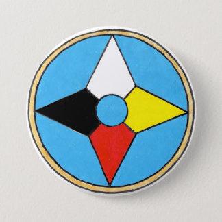 Pin's Long bouton de bouclier de danse