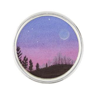 Pin's Lune et étoiles de Lansing