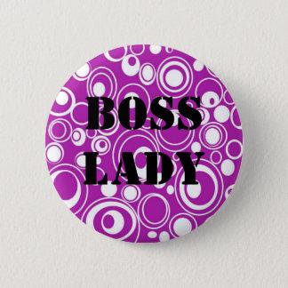 Pin's Madame Purple Pattern Button de patron