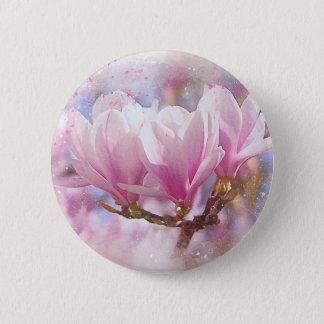 Pin's Magnolia pourpre rose de floraison - fleur de
