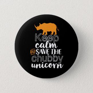 Pin's Maintenez les économies de calme le rhinocéros