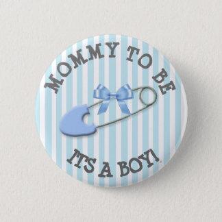 Pin's Maman à être baby shower rayé bleu de Pin de