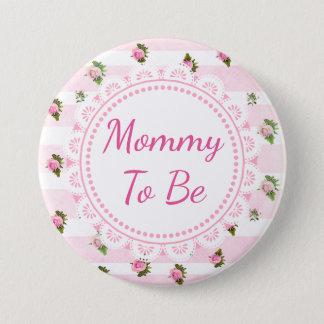 Pin's Maman à être roses de rose de bouton de baby