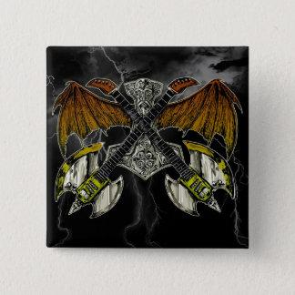 Pin's Marteau de Thor des guitares de dieux
