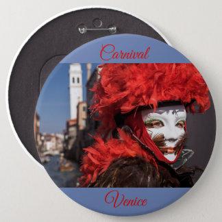 Pin's Masque rouge de carnaval à Venise, Italie
