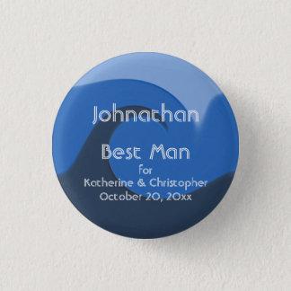 """Pin's Meilleur homme """"bleu de marée"""" - avec les noms et"""