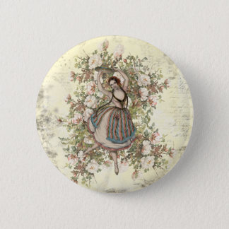 Pin's Mélange floral gitan et match de danse vintage