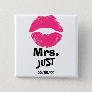 Pin's Mme et M., l'épouse nouvellement, juste marié, ont