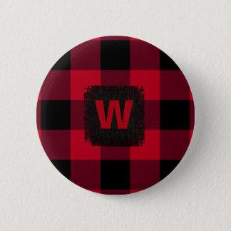Pin's Monogramme de contrôle de Buffalo rouge et noir