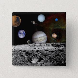 Pin's Montage des planètes et des lunes de Jupiter