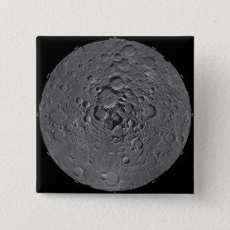 Pin's Mosaïque lunaire de la région polaire du nord du m