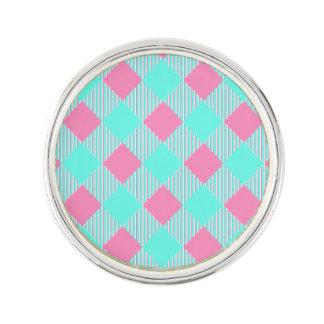 Pin's Motif à la mode rose et bleu chic de contrôle