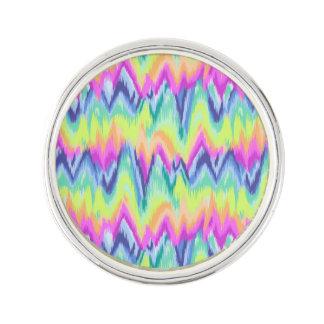 Pin's Motif au néon abstrait coloré chic de Chevron
