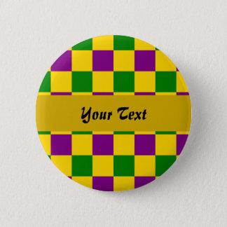 Pin's Motif checkered de mardi gras
