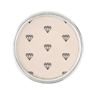 Pin's Motif chic mignon de rose de diamant