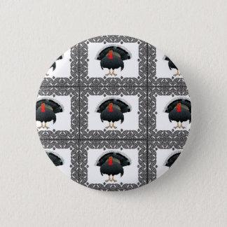 Pin's motif cubé de dinde