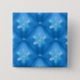 Pin's Motif de flocon de neige de Noël de bleu royal