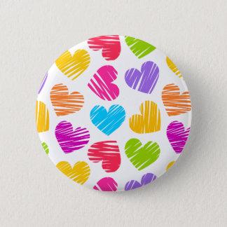 Pin's Motif en pastel Girly de coeurs d'amour