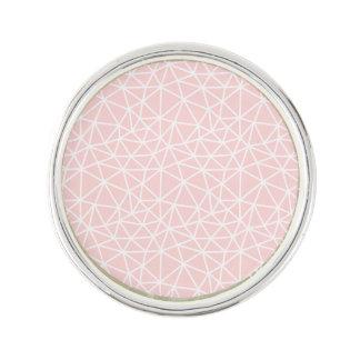Pin's Motif géométrique blanc rose Girly de rayures