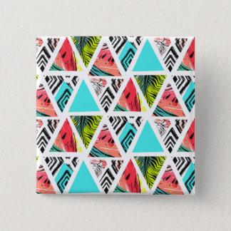 Pin's Motif tropical abstrait coloré
