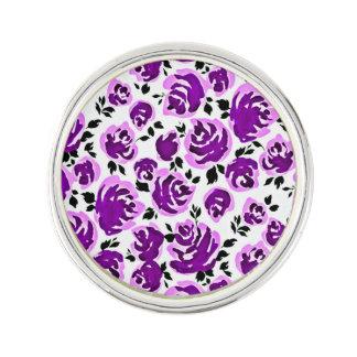 Pin's Motifs mignons de roses de violette blanche